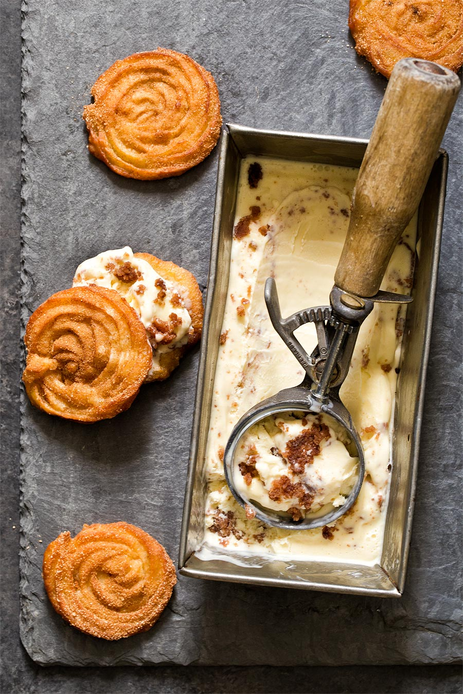 Churro Ice Cream by Carla Cardello Food Photographer