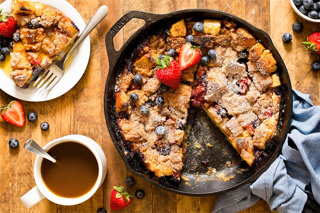 Berry French Toast Casserole by Carla Cardello Food Photographer