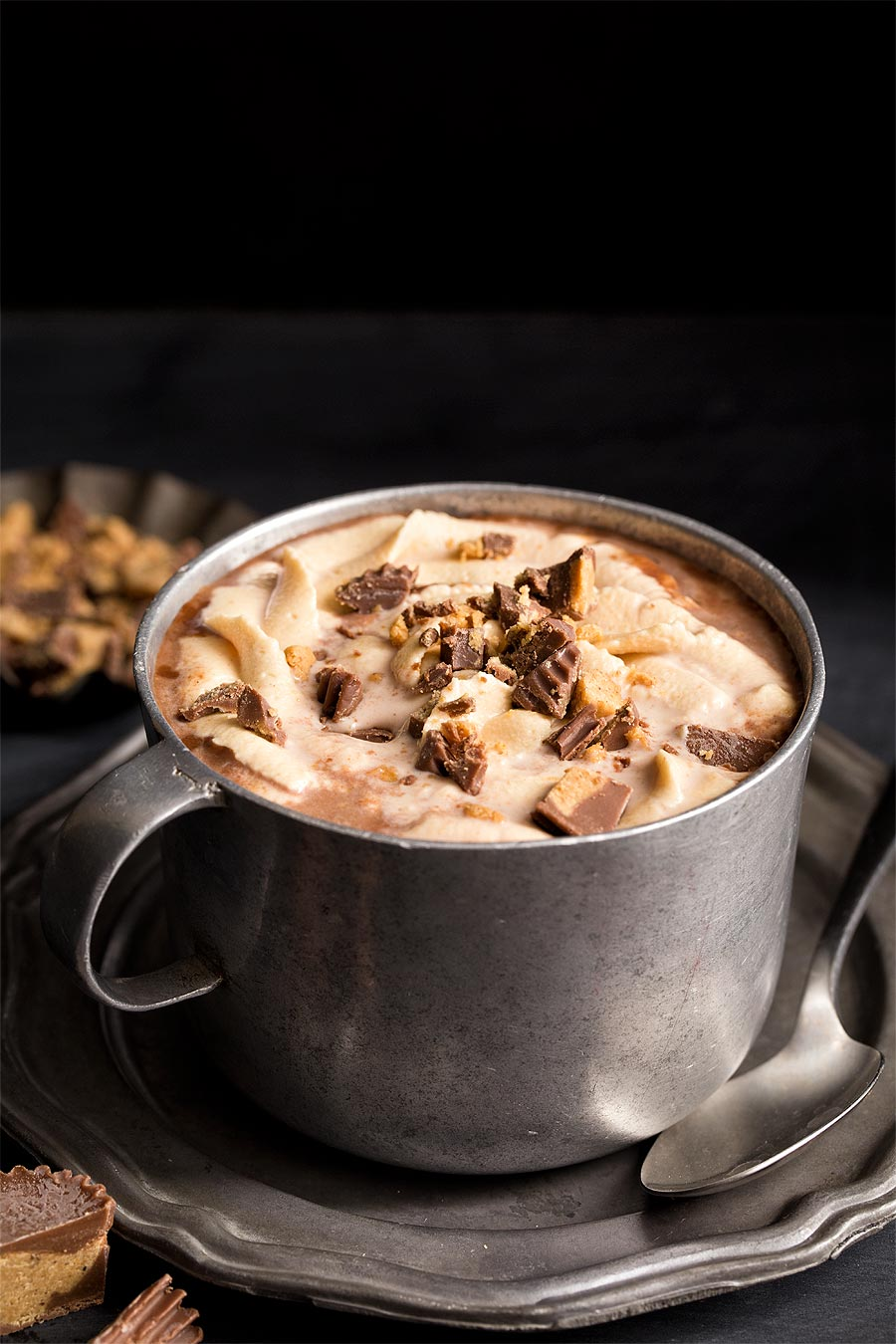 Peanut Butter Hot Chocolate by Carla Cardello Food Photographer